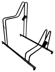 【4973291115912】【送料無料】【サギサカ】 【電動自転車対応】家庭用駐輪スタンド 2台用 組立式 【2台分のスペースが約1.5台分に】