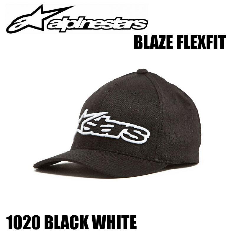 【8033637752013】【送料無料】【Alpinestars(アルパインスターズ)】 BLAZE FLEXFIT キャップ BK/WHT S-M ブレイズ フレックスフィット 帽子 黒白 S-M 【ALPBLFXBKSM】