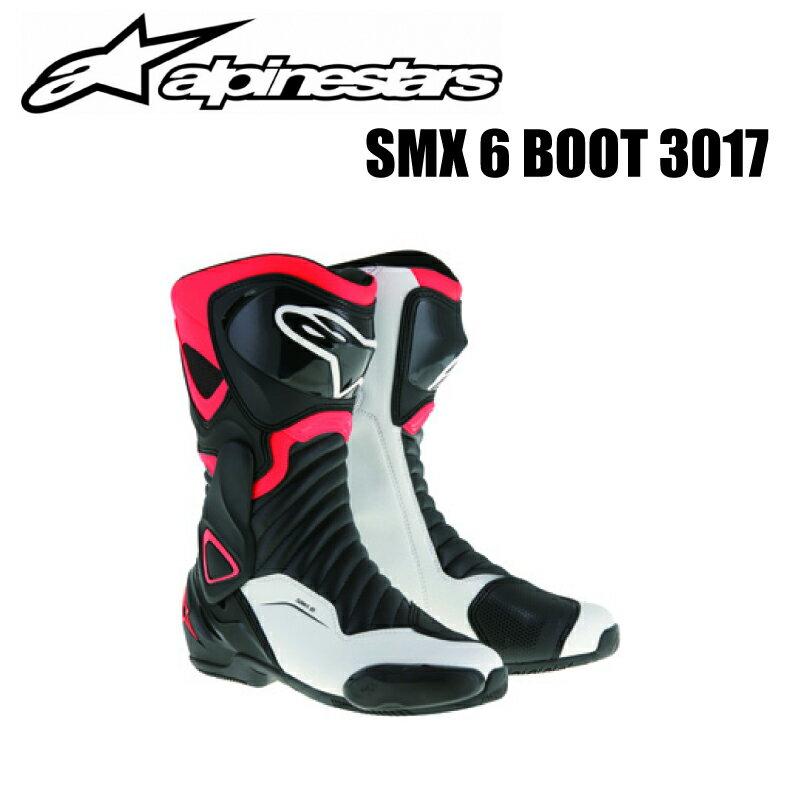 【送料無料】【Alpinestars(アルパインスターズ)】 SMX 6 BOOT 3017 ブラック/レッドフロー/ホワイト 24.0cm〜31.5cm 1321 BK/RDF/WH SMX 6 ブーツ バイクブーツ レーシングブーツ 柔軟性 安全性 【SMX 6 ブーツ【ブラック/レッドフロー/ホワイト】】