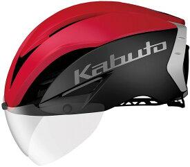 【OGK KABUTO】 AERO-R1 エアロ・R1 マットブラックレッド-4(S/M)、マットブラックレッド-4(L/XL) 自転車用 サイクルヘルメット スポーツヘルメット JCF(公財)日本自転車競技連盟公認 A.I.ネット、ノーマルインナーパッドセット(7mm厚)、AR-3シールド付属 瞬間消臭