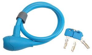 【4510676200407】【PALMY(パルミー)】 P-4505 ワイヤーロック ブルー 自転車用 簡単施錠 盗難予防 ワンタッチブラケット付属 ディンプルキーを採用 ロングタイプ 【ポップカラーでかわいい オシ