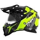 【送料無料】【THH】 インナーサンバイザー装備 オフロードヘルメット TX-28 ウェイク イエローホワイト モトクロ…