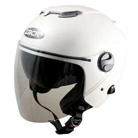 【4984679509674】【TNK工業】スピードピット ZACK ZJ-3 ヘルメット W(パールホワイト) 【フリーサイズ(58cm-60cm未満) 】 ジェット インナースモークシールド付