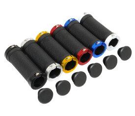 【Palmy Sports(パルミースポーツ)】 自転車用グリップ PS-G218 ダブルリング・グリップ(ショートタイプ) ブラック/ホワイト、ブラック/ブルー、ブラック/レッド、ブラック/ゴールド、ブラック/シルバー、ブラック/ブラック オシャレなアルミカラーリング サイズφ22.2mm