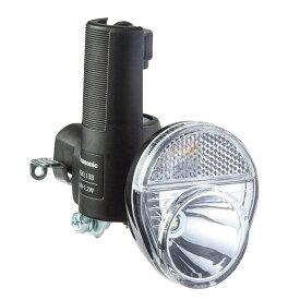 【4519389542729】【送料無料】【パナソニック(Panasonic)】 自転車用ライト LED発電ランプ 1LEDNSKL138 (ブラック) 【サイクルライト】