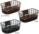 【OGK技研】 自転車用前カゴ FB-038K 籐風まえ用大きなバスケット 内容量 : 約19L ...