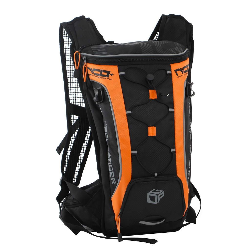 【ドッペルギャンガー】 ナローサイクルバックパックプラス ブラック×オレンジ 2ヶ所の収納スペース【超軽量バックパック 】