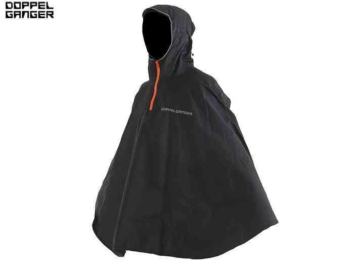 【ドッペルギャンガー】 パッカブルポンチョ ブラック 対応身長 150-175cm 【コンパクト設計。 】
