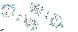 【送料無料】【Honda(ホンダ)】 耕うん機サ・ラ・ダCG FF500用 標準ローター爪交換セット 交換用ボルトナット付 11443【ホンダ耕うん機用パーツ】