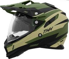 【送料無料】【THH】インナーサンバイザー装備オフロードヘルメットTX-28VoltGreenBlack(グリーンブラック)モトクロス全排気量対応thh-tx28vo-gk【【SG規格認定】【THH日本総代理店】】