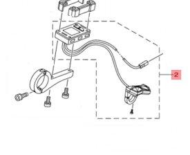 【ヤマハ(YAMAHA)】 X1M-83500-10 メータアセンブリ 電動自転車 補修部品
