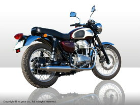 【4582329784893】【代引不可】【r's gear】 アールズギア ワイバンクラシック ツイン クラシカルタイプ W650 マフラー WK16-02CT