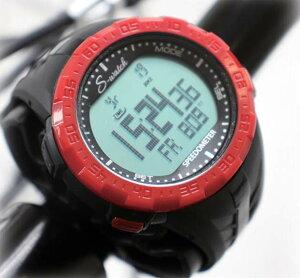 【サギサカ】 【4973291733529】S-Watch ver2 自転車 腕時計 スピードメーター バックライト ストップウォッチ 生活防水