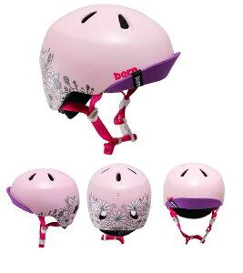 【送料無料】【Bern】バーン NINA ニーナ 女の子 子供用 塗り絵 花 メモリアルペイント マーカー付 ストライダー 自転車 キッズ 幼児用 ヘルメット (XS-S、S-Mの2サイズ) 2-6歳 NINA-PA