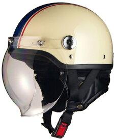 【4952652009299】LEAD(リード工業)CROSS CR-760 ハーフヘルメット0SS-GCCR760-YB(アイボリー/ネイビー) サイズ調整スポンジ付き