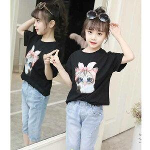 【送料無料】子供服女の子半袖Tシャツスウェットパンツ上下セットキッズクール快適かわいい