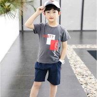 子供服男の子半袖Tシャツ短パン上下セットキッズ爽やか普段着クール半端丈110cm120cm130cm140cm150cm160cm