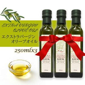 【送料無料】エクストラバージン オリーブオイル まとめ買い 250mlx3本 スペイン産 本格派 extra virgin olive oil 料理 家庭用 自宅用 お店 食品 料理 パスタ