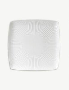 WEDGWOOD ホワイト フォリア スクエア トレー 30cm White Folia square tray 30cm