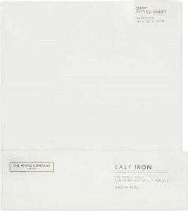 THE WHITE COMPANY イージー アイロン エジプシャンコットン ディープ フィット スーパーキング シート Easy iron Egyptian cotton deep fitted Superking sheet #WHITE