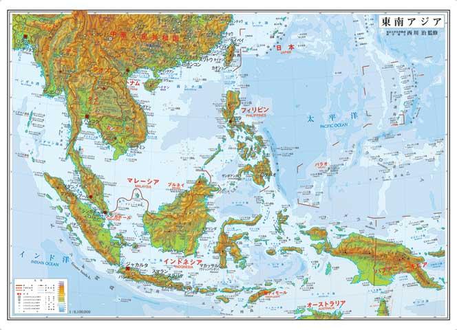 小判 東南アジア地図ポスター