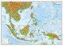 小判 東南アジア地図(表面PP加工)