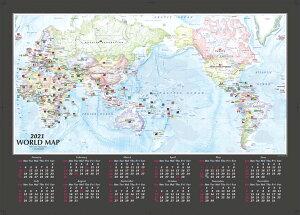 地図カレンダー 2021  【2021年版、B2サイズ 英語版世界地図カレンダー】