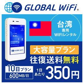 【レンタル】台湾 wifi レンタル 大容量 10日 プラン 1日 600MB 4G LTE 海外 WiFi ルーター pocket wifi wi-fi ポケットwifi ワイファイ globalwifi グローバルwifi 〈◆_台湾 4G(高速) 600MB/日 大容量_rob#〉