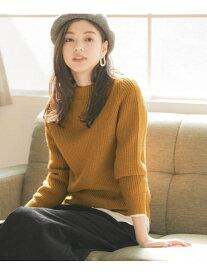 [Rakuten Fashion](W)マシュマロタッチボトルN/PO GLOBAL WORK グローバルワーク ニット 長袖ニット イエロー ホワイト パープル ブラウン レッド