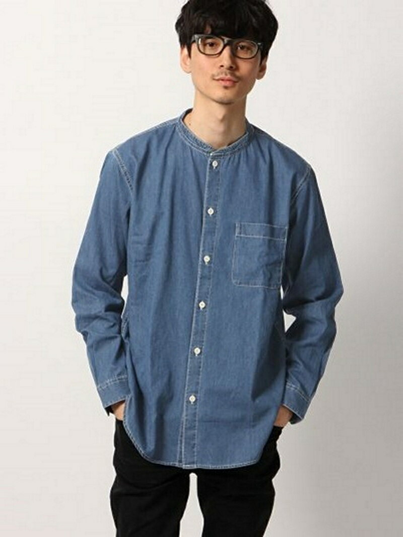 [Rakuten BRAND AVENUE](M)デニムバンドカラーシャツ GLOBAL WORK グローバルワーク シャツ/ブラウス【送料無料】