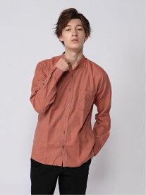 [Rakuten Fashion](M)ソフトタッチネルバンドカラー GLOBAL WORK グローバルワーク シャツ/ブラウス 長袖シャツ オレンジ ブルー ホワイト ブラック パープル