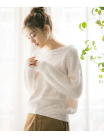 [Rakuten Fashion](W)SOFTフェザ-スリーブPO GLOBAL WORK グローバルワーク ニット 長袖ニット ホワイト グレー パープル ブラウン