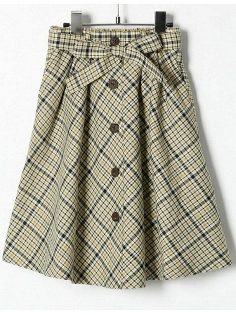 [Rakuten BRAND AVENUE]【SALE/45%OFF】(K)チェックマエボタンスカート GLOBAL WORK グローバルワーク スカート【RBA_S】【RBA_E】