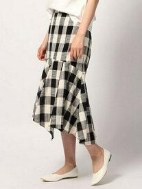 [Rakuten Fashion]【SALE/50%OFF】(W)ブロックCHペプラムSK GLOBAL WORK グローバルワーク スカート ロングスカート ブラック グレー【RBA_E】