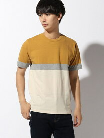 [Rakuten Fashion](M)ジャカードアミジキリカエT GLOBAL WORK グローバルワーク カットソー Tシャツ イエロー グリーン グレー ネイビー ピンク ホワイト