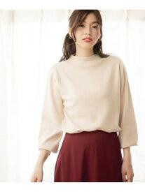 [Rakuten Fashion](W)3EASY-モックネックPO GLOBAL WORK グローバルワーク ニット 長袖ニット ホワイト ネイビー ブラウン レッド