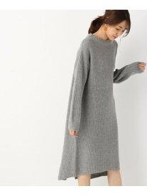 [Rakuten Fashion](W)バックスリットアゼニットOP GLOBAL WORK グローバルワーク ワンピース ニットワンピース グレー ブラック ベージュ レッド【送料無料】