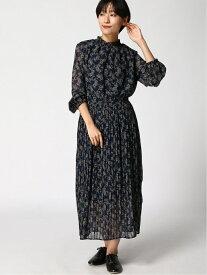 [Rakuten Fashion](W)プチエリPRTプリーツOP GLOBAL WORK グローバルワーク ワンピース 長袖ワンピース ネイビー ブラック レッド【送料無料】