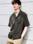 [RakutenBRANDAVENUE](M)レーヨンオープンカラーSSGLOBALWORKグローバルワークシャツ/ブラウス