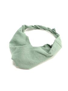 (W)リネンワイヤーターバン GLOBAL WORK グローバルワーク 帽子/ヘア小物 カチューシャ/ヘアバンド グリーン グレー ブラウン ホワイト[Rakuten Fashion]