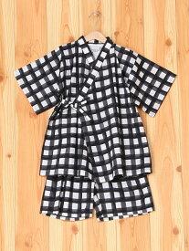 [Rakuten Fashion](K)カンタンジンベイセット/K GLOBAL WORK グローバルワーク ビジネス/フォーマル 着物/浴衣 ブラック ネイビー
