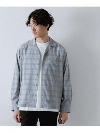 [Rakuten Fashion]【SALE/60%OFF】(M)アーバンリラックスシャツ GLOBAL WORK グローバルワーク シャツ/ブラウス 長袖シャツ グレー シルバー ブルー ベージュ【RBA_E】
