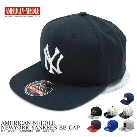AMERICAN NEEDLE アメリカンニードル キャップ ニューヨークヤンキース ベースボールキャップ スナップバック NEW YORK YANKEES BALL CAP メジャーリーグ MLB 帽子 【メンズ・レディース】