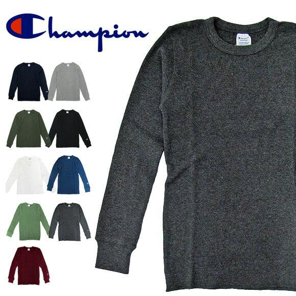 Champion チャンピオン サーマル C3-E430 サーマル ワッフル 無地 ロングスリーブTシャツ LONG SLEEVE T-SHIRT HANES ヘインズ INDERA インデラ
