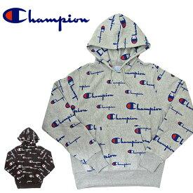 チャンピオン Champion リバースウィーブ プルオーバーパーカー REVERSE WEAVE PULLOVER HOOD メンズ 総柄 S2974 大きいサイズ Cロゴ USAモデル