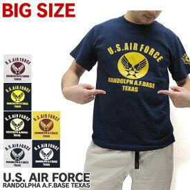 【メール便配送】【大きいサイズ】U.S. AIR FORCE ユーエスエアフォース Tシャツ 半袖 RANDOLPH A.F.BASE TEXAS アメリカ軍 米軍 US AIR FOCE ミリタリー ALPHA アルファ ROTHCO ロスコ