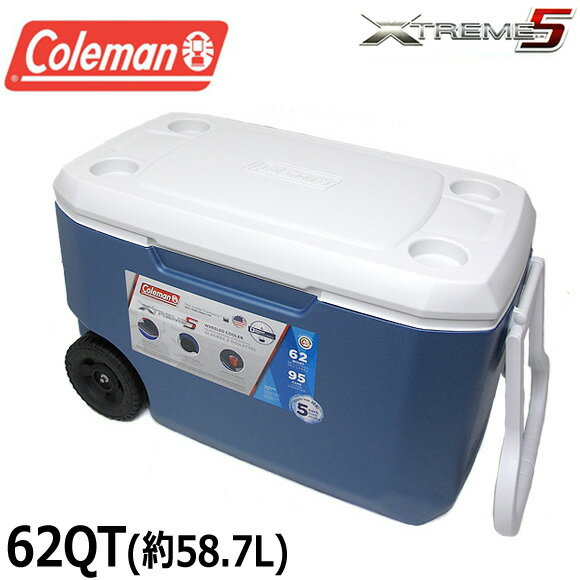 【送料無料】コールマン COLEMAN クーラーボックス 62QT 3000004025 エクストリーム クーラーボックス 大容量58.7L XTREME COOLERS BOX アウトドア キャンプ 運動会 釣り フィッシング メール便不可 02P05Nov16