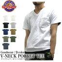 【2枚以上で送料無料】GOODWEAR グッドウェア Tシャツ Vネック ポケットTシャツ 半袖 カスタム ポケット付き ヘビーウ…