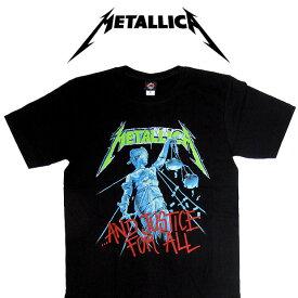 【メール便送料無料】METALLICA メタリカ バンドTシャツ 半袖 BG-0011-BK And Justice For All TEE 半袖Tシャツ