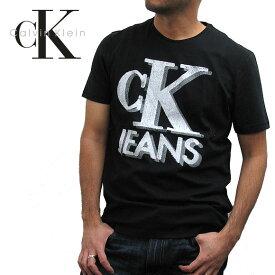 【メール便送料無料】Calvin Klein カルバンクライン TシャツオールドスクールロゴTシャツ 41E5445OLD SHCOOL CKJ LOGO TEE SHIRT